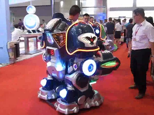Walking robot ride
